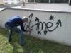 Odstránenie graffiti zplochy ošetrenej antigraffiti Košice