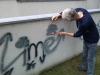 Odstránenie graffiti zplochy ošetrenej antigraffiti Košice1
