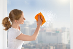 Umývanie výškových budov - Práce vo výškach
